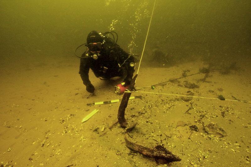 Подводная археологическая экспидиция по подъёму казацких якорей.у